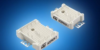 Mouser adds STMicroelectronics' AcePack IGBT modules