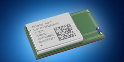 Mouser stocks Panasonic's PAN9026 dual-mode Wi-Fi and Bluetooth 5 module