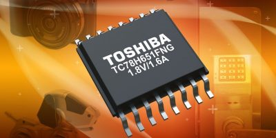H-bridge motor driver IC meets demand for low voltage, high current drive