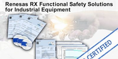 Renesas Introduces RX Functional Safety Solution with World's First SIL3 Software Certification for Industrial Equipment