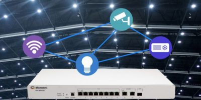 Eight-port PoE switch supports IEEE 802.3bt for smart lighting