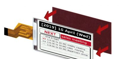 Tri-colour e-paper displays target portable equipment