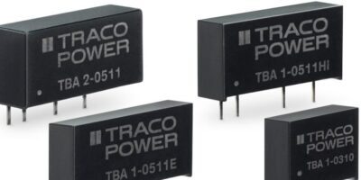 RS Components adds Traco's cost-effective DC/DC power converters