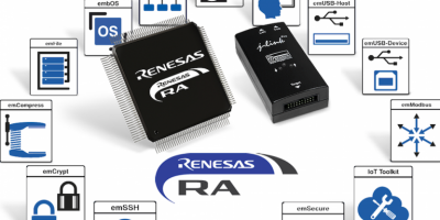 Segger supports Renesas' ARM-based RA microcontrollers