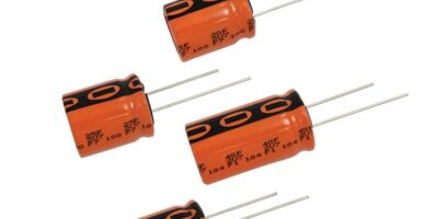 Energy storage capacitors offer long life and high moisture resistance