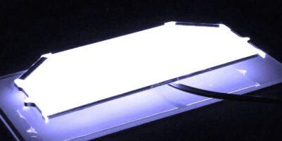 Moulded backlight reduces set-up costs