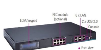 Rack-mount network appliance protects and boosts packet performance