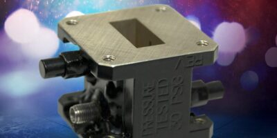 Miniature dual-loop coupler is made for confined spaces