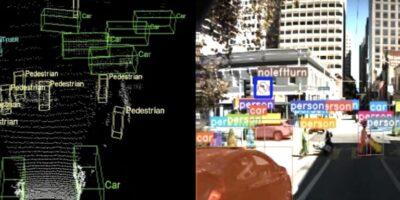 Perception software runs in sensors of autonomous vehicles
