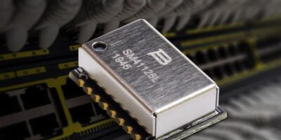 Discrete chip LAN combines with common mode chokes in transformer module