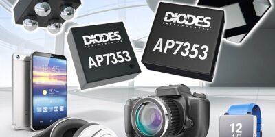 LDO regulator has high PSRR for noise-sensitive applications