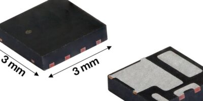 30V MOSFET half-bridge power stage increases output current, reduces PCB space