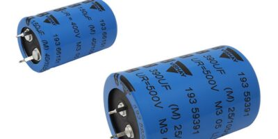 Snap-in power aluminium capacitors increase ripple current and operating life