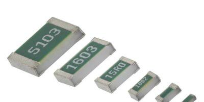 Thin film flat chip resistors save space in 0201 case size